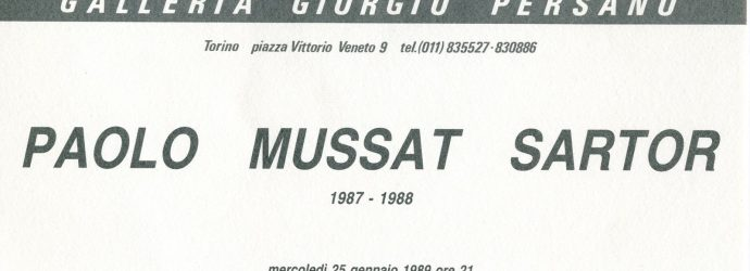 Paolo Mussat Sartor 1987 – 1988