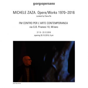Michele Zaza. Opere/Works 1970-2016